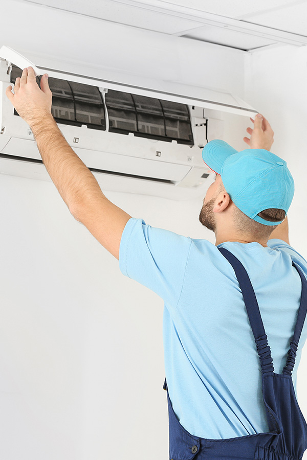 ac unit being installed