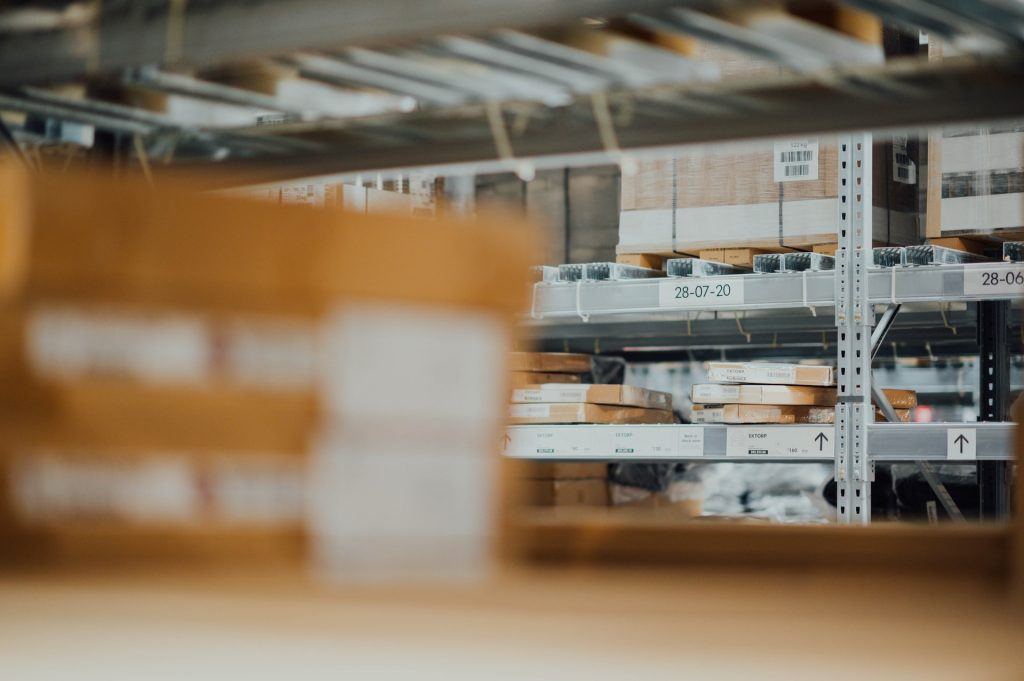 warehouse with an efficient heating system