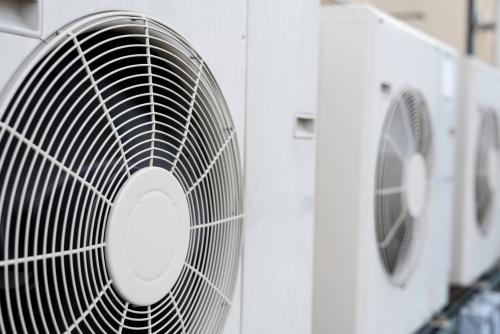 Close Up Of Split Air Conditioner Condenser