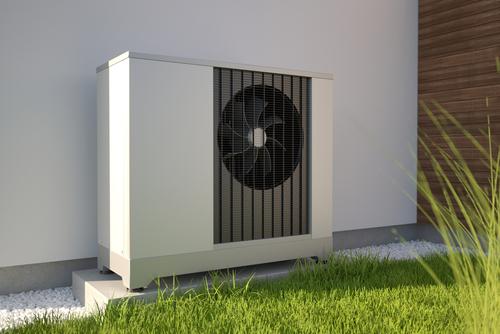 Air Source Heat Pump Beside House
